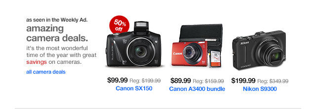 Amazing camera deals.