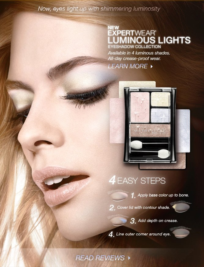 See Maybelline's NEW ExpertWear Luminous Lights Eyeshadow!