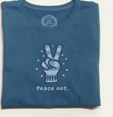 Women's Crusher Tee Long Sleeve - Peace Out Glove