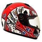 SMS Motoretta Gambler Red Full Face Helmet