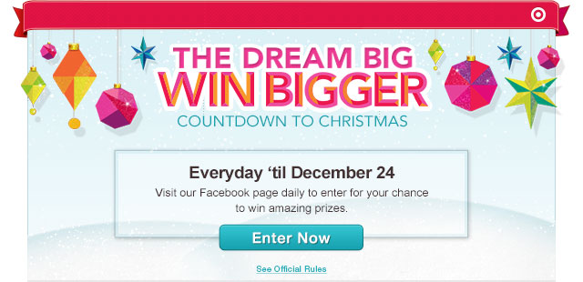 THE DREAM BIG WIN BIGGER COUNTDOWN TO CHRISTMAS
