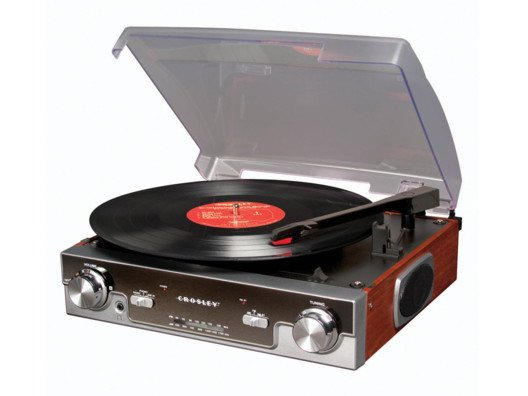You can still play all your favorite digital songs on your iPod, too, through the turntable's auxiliary output port.