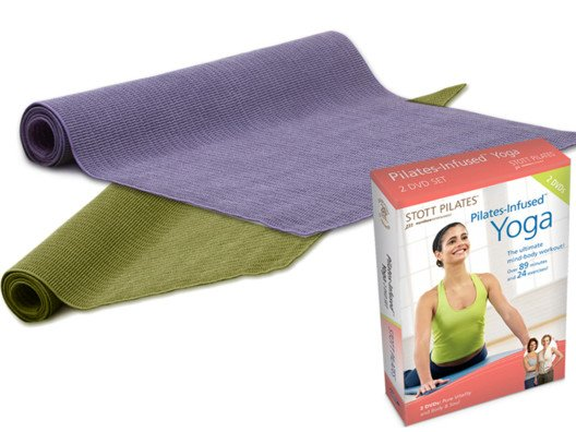 Yoga Mat + Pilates-Infused 2-Pack DVD from Mariel Hemingway