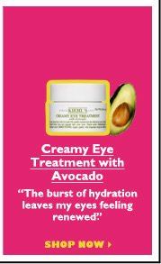 "Creamy Eye Treatment with Avocado  | ""The burst of hydration leaves my eyes feeling renewed."" 