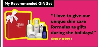 "My Recommended Gift Set | ""I love to give our unique skin care formulas as gifts during the holidays!"" 