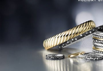 INSPIRE SOMEONE: David Yurman. Iconic Jewelry is a thrill to give and receive. A David Yurman devotee will be delighted to unwrap a beautiful new piece to add to her collection. Holiday Gift Finder.
