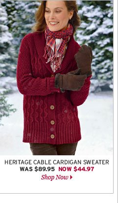 Heritage Cable Cardigan Sweater