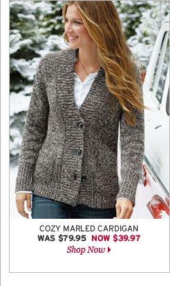 Cozy Marled Cardigan