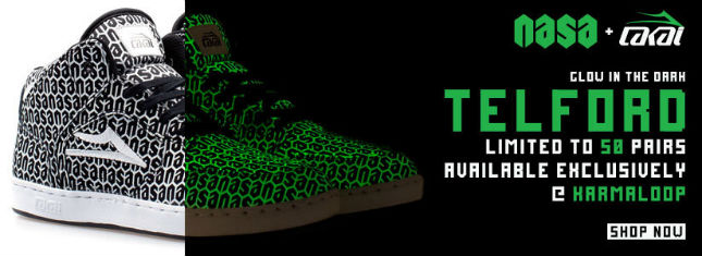The Limited Edition NASA x Lakai Glow-In-The-Dark Telford Sneaker