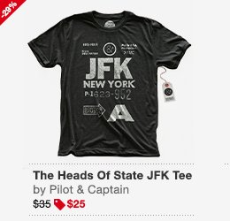 The Heads Of State JFK Tee Men's Image