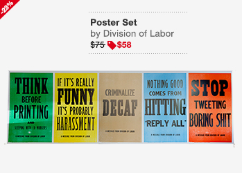 Division Of Labor Poster Set Image