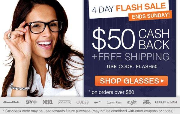 Flash Sale - $50 Cashback + Free Shipping