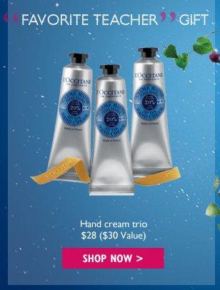 Favorite Teacher Gift Hand cream trio $28 ($30 Value)