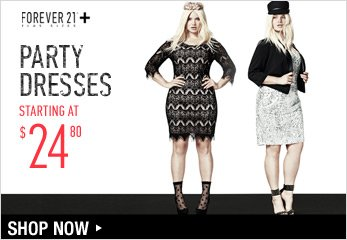 Forever 21 Plus: Party Dresses Starting at $24.80 - Shop Now