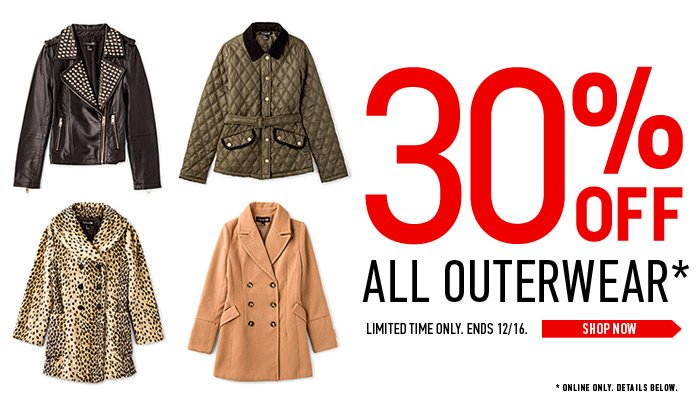 30% Off Outerwear Sale - Limited Time Only!