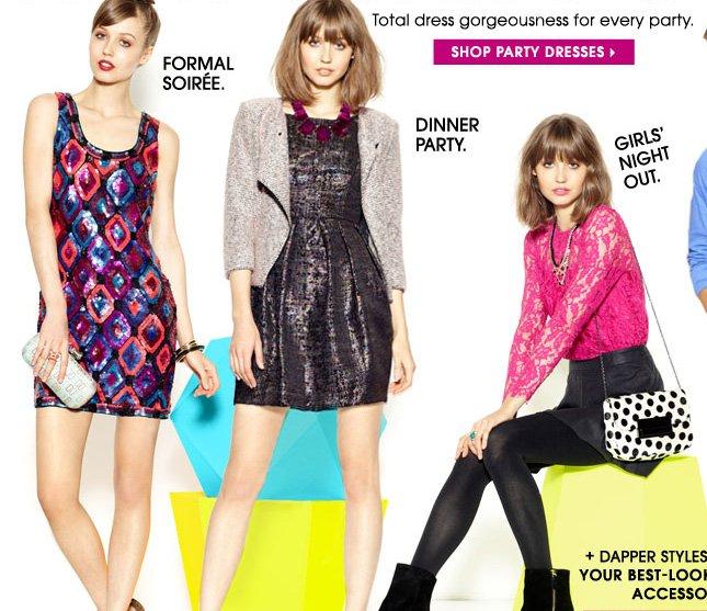 SHOP PARTY DRESSES