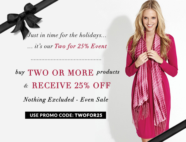 Buy 2 Products Get 25% Off