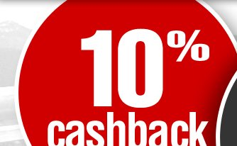 Get 10% OFF + 10% Cashback on your next purchase! Use coupon code: DOUBLE. Expires December 16, 2012.