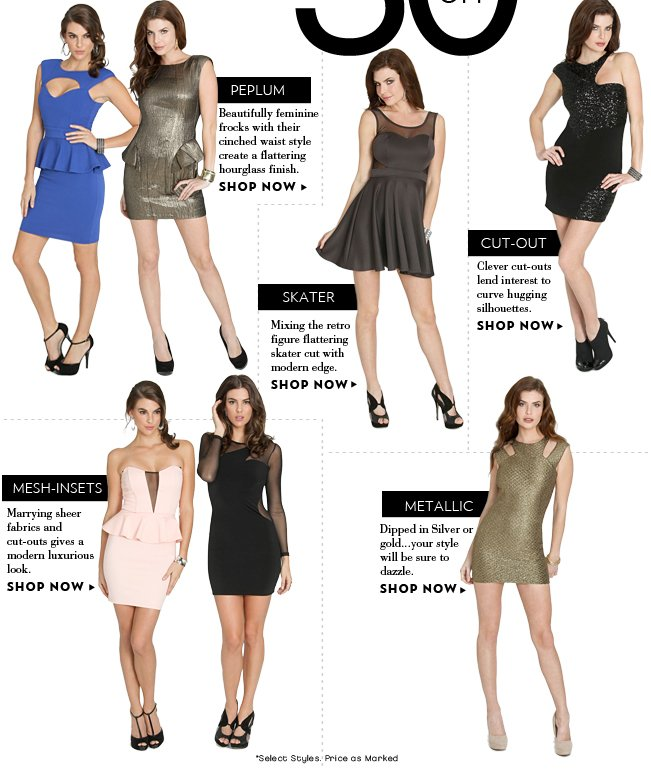 Shop 30% OFF Your Favorite Dress Styles