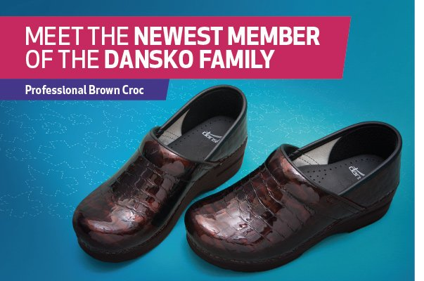 Meet the Newest Member of the Dansko Family. Professional Brown Croc.
