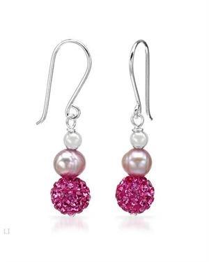 Ladies Freshwater Pearl Earrings Designed In Sterling Silver