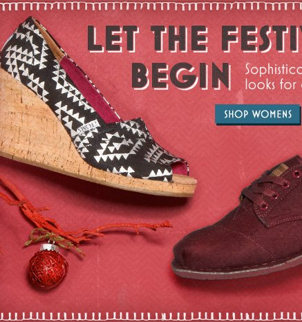 Let the festivities begin - shop women's