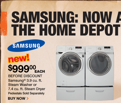 Samsung 3.9 cubic foot Steam Washer or Dryer
