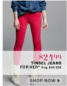 Tinsel jeans for her