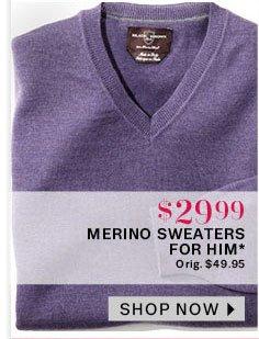 Merino sweaters for him
