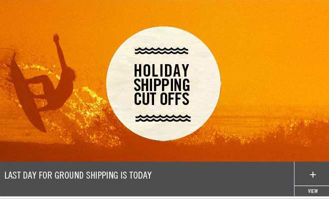 Last Day for Ground Shipping is Today