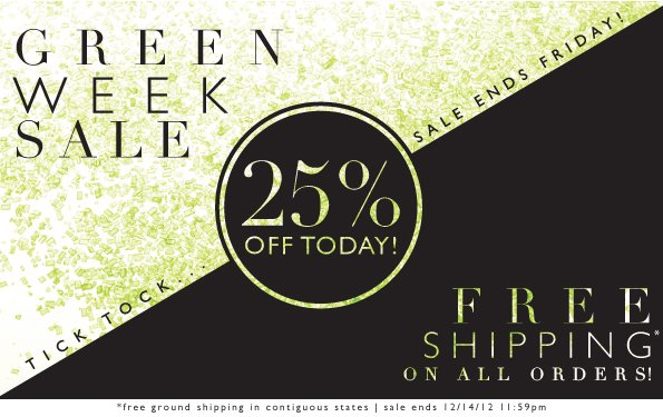 Green Week Sale | 25% Off Today