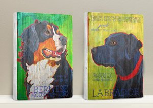 Reclaimed Wood Dog Signs by Ursula Dodge