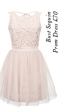 Bust Sequin Prom Dress