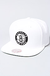 The Brooklyn Nets Solid Snapback Cap in White