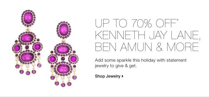 UP TO 70% OFF* BEN AMUN, KENNETH JAY LANE & MORE