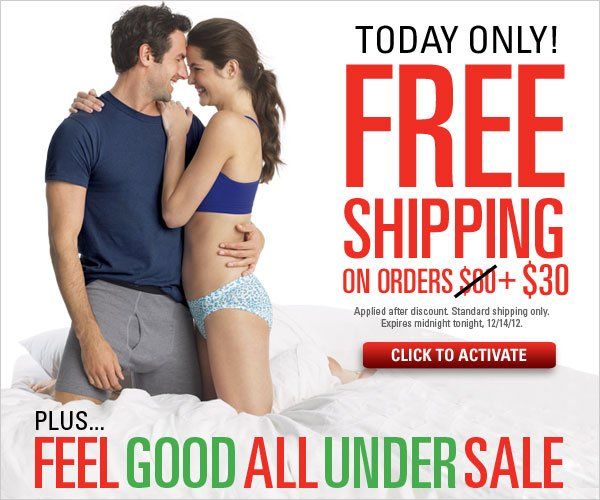 Free Standard Shipping with order $30+ and Feel Good All Under Sale