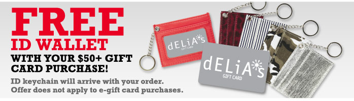 FREE ID WALLET WITH YOUR $50 +  GIFT CARD PURCHASE!