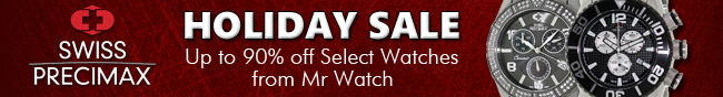 Swiss Precimax - HOLIDAY SALE. Up to 90% off Select Watches from Mr Watch.