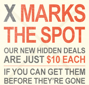 X marks the spot.