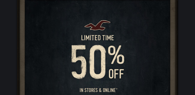 limited time! 50% OFF