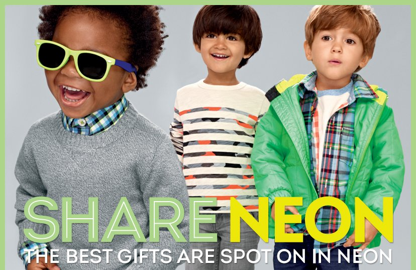 SHARE NEON - THE BEST GIFTS ARE SPOT ON IN NEON