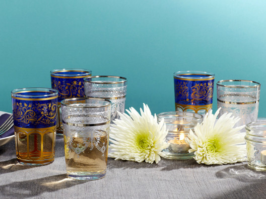 Everyone's been asking for these Moroccan tea glasses. Well, they're back in stock!
