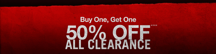 BUY ONE, GET ONE 50% OFF**** ALL CLEARANCE