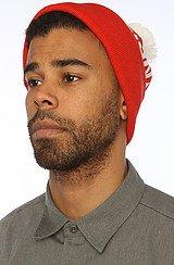 The Billionaire Pom Pom Hat in Red