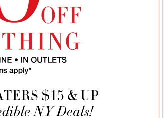 Combine your coupon with our amazing 50% OFF EVERYTHING sale! Shop NOW
