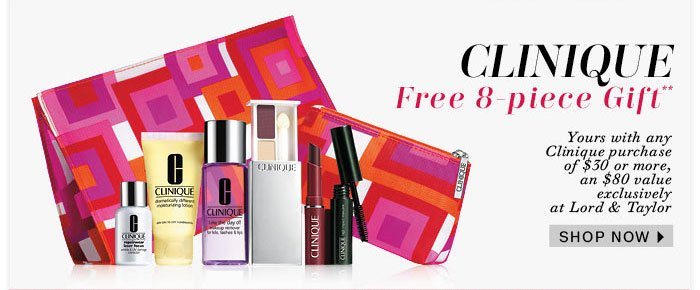 Clinique Free 8-Piece Gift