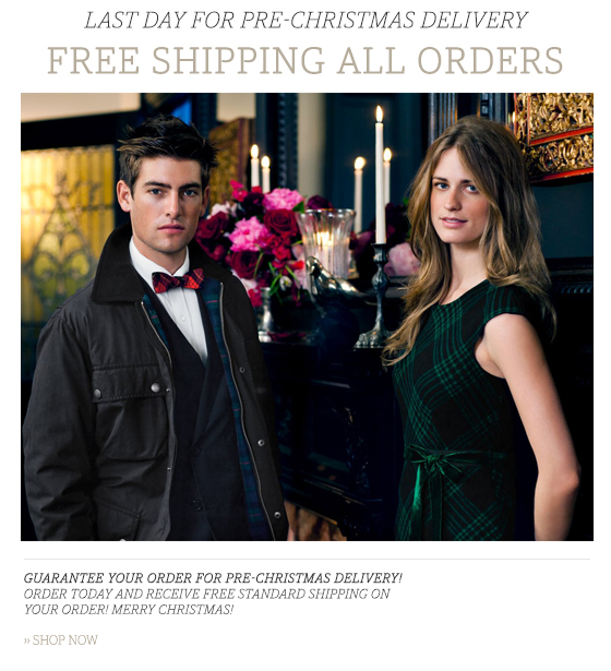 LAST DAY FOR PRE-CHRISTMAS DELIVERY - Free Shipping all orders