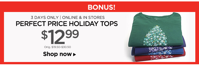 Perfect Price Holiday Tops