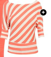 Diagonal Striped Dolman Top