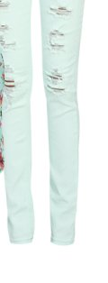 Pale Color Destroyed Skinny Jean